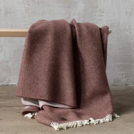 Choco Brown Wool Throw Roberto