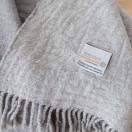 Grey Extra Fine Merino Wool Throw Marcus