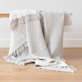 Silver Extra Fine Merino Wool Throw Marcus