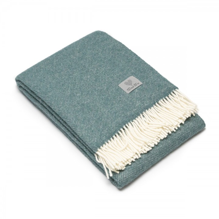 Balsam Green Wool Throw Roberto