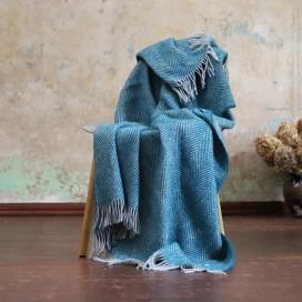 Turquoise Wool Throw Sergio