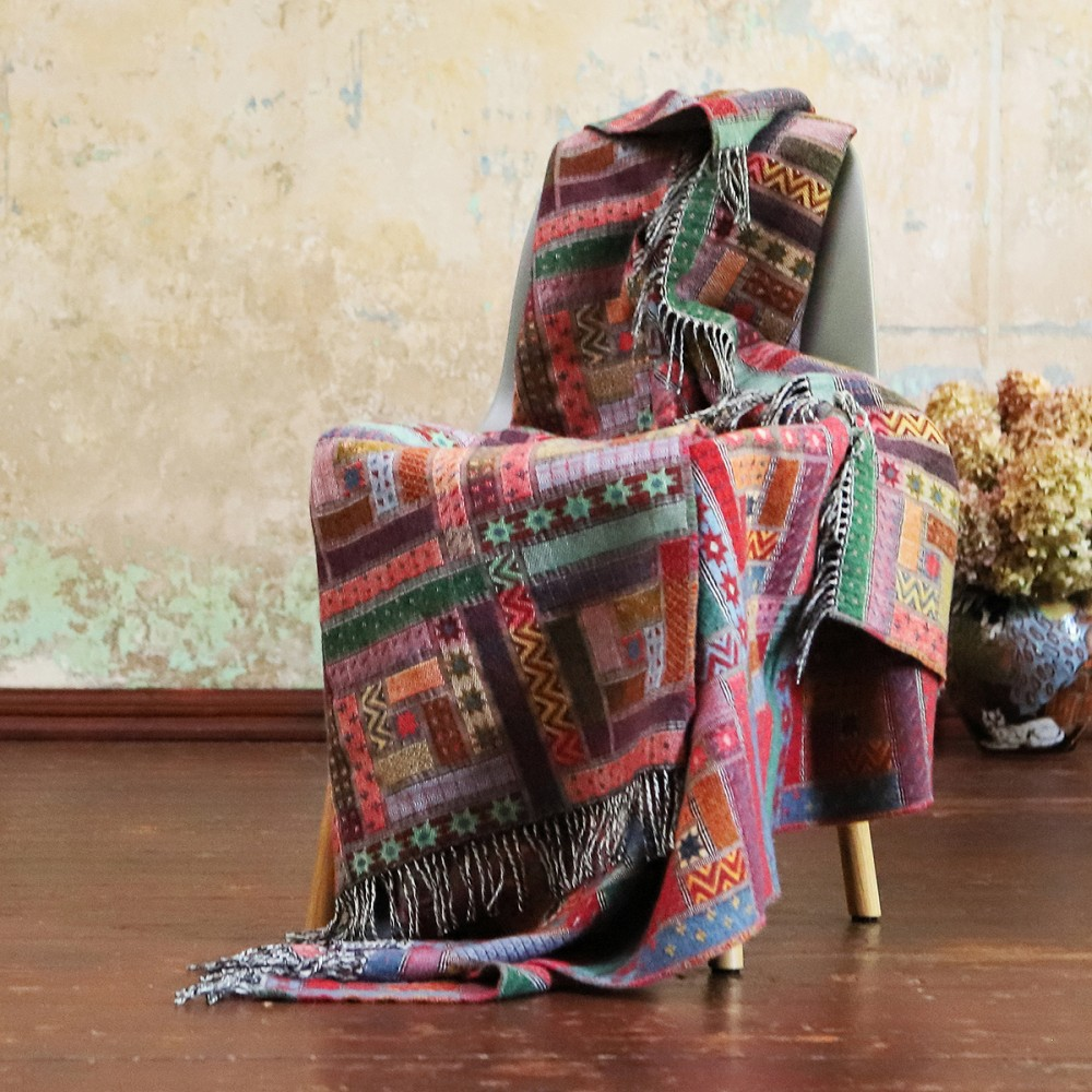 100% Wool Blanket Quilt With Pillow