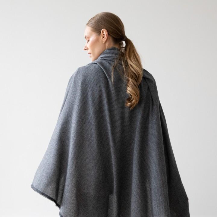 Grey Wool Shawl Salvatore