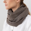 Pure Merino Wool Scarf Luciano Brown