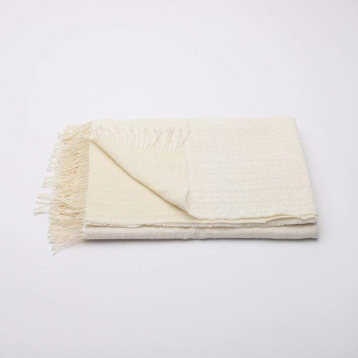 Ivory Linen Throw Sofia