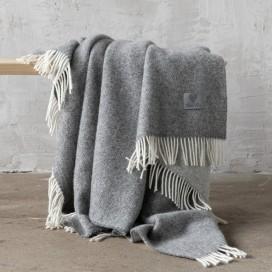 Steel Grey Wool Throw Roberto