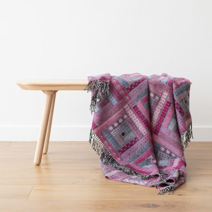 Purple Merino Wool Throw Marta