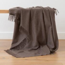 100% Cashmere Throw Everest Brown