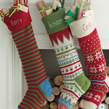 stylish red wool stockings