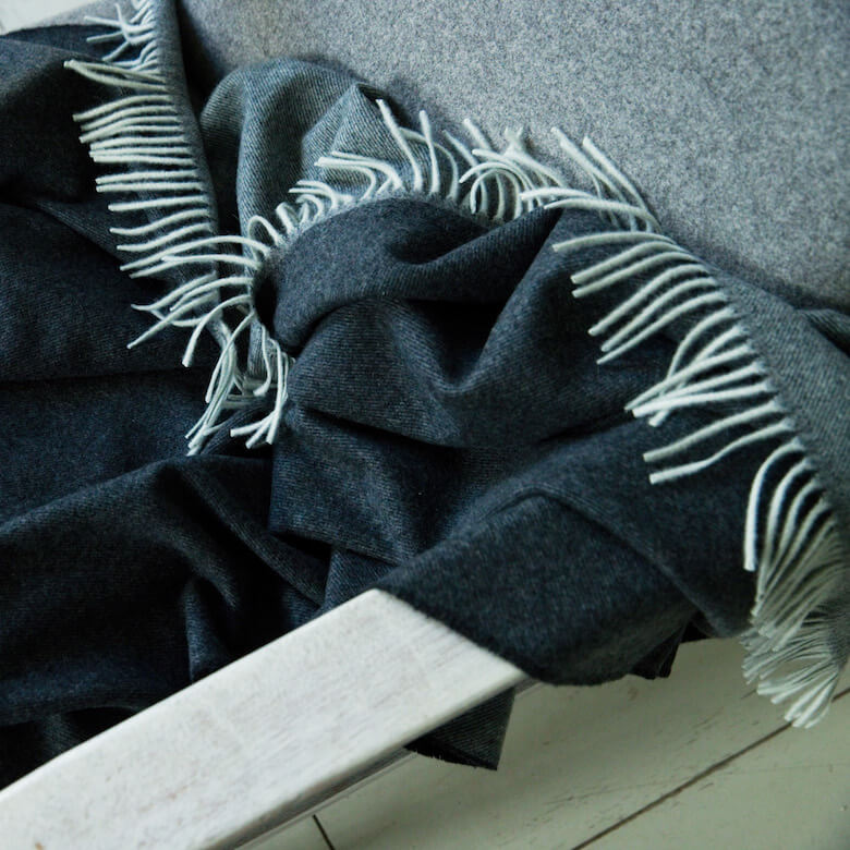 merino wool cashmere throw - wool throws