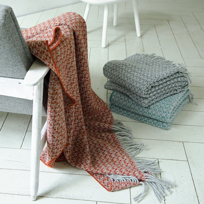 patterned wool throws fall