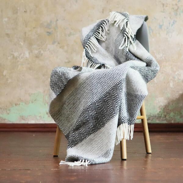 wool blanket bedroom interior design